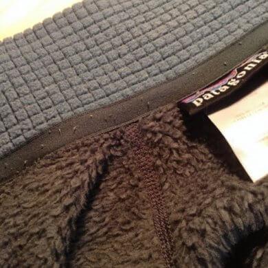 パタゴニアR2ジャケットの襟