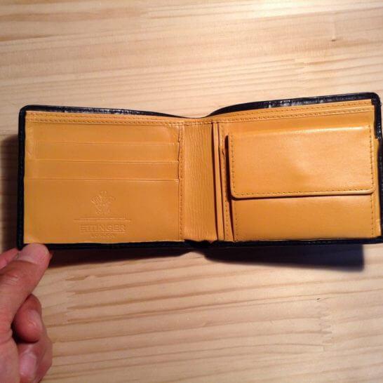 革財布の内側の塗りなおし