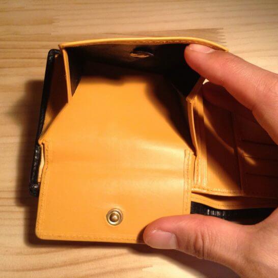 革財布の小銭入れ部分の塗りなおし
